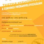 Corvinus PRÓBANYELVVIZSGA - 2016.04.04 - 2016.04.07.