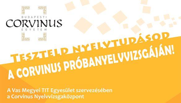 Mérd fel a nyelvtudásodat CORVINUS próbanyelvvizsgán!